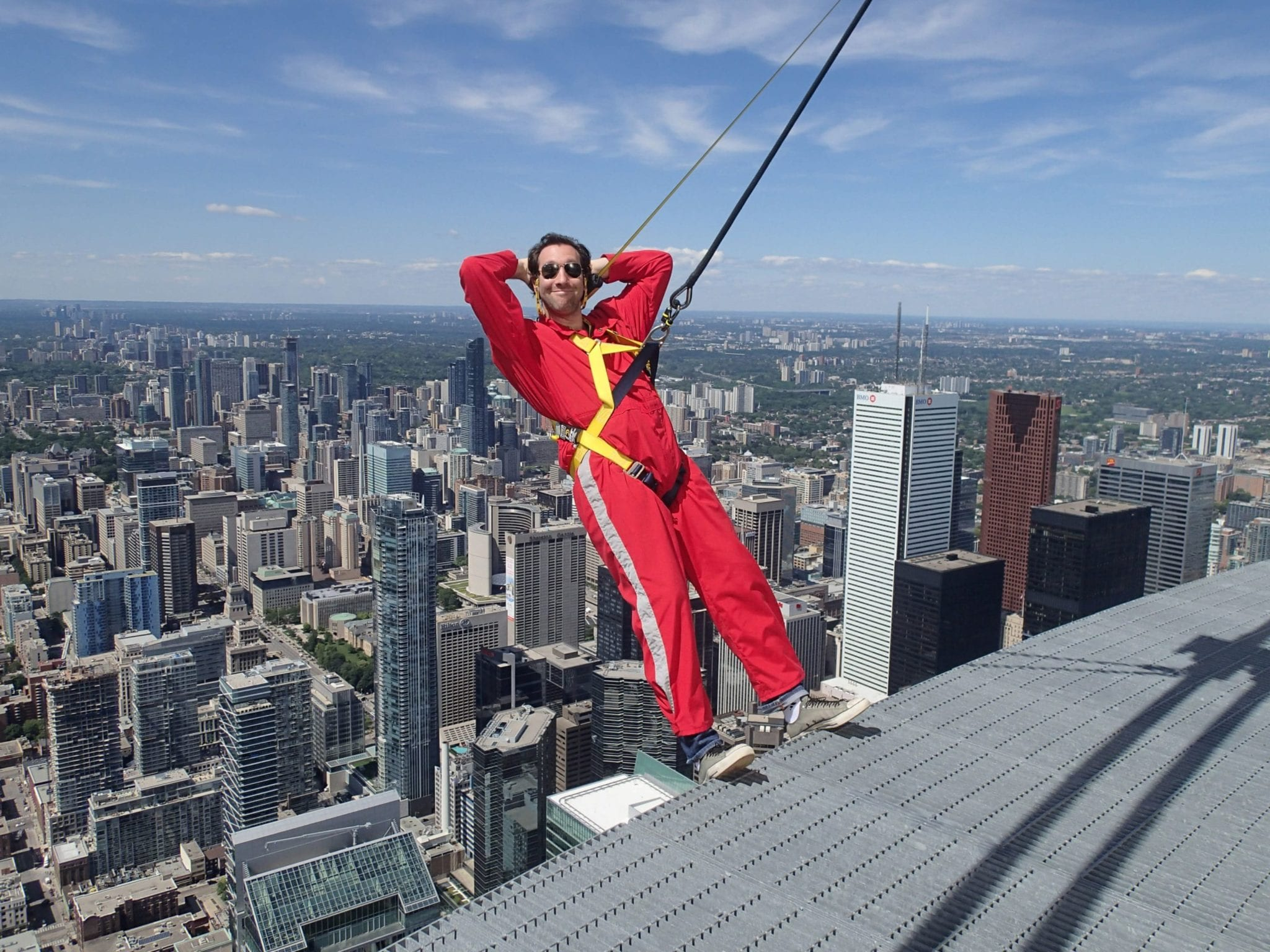 Neil Wiseblott does the EdgeWalk