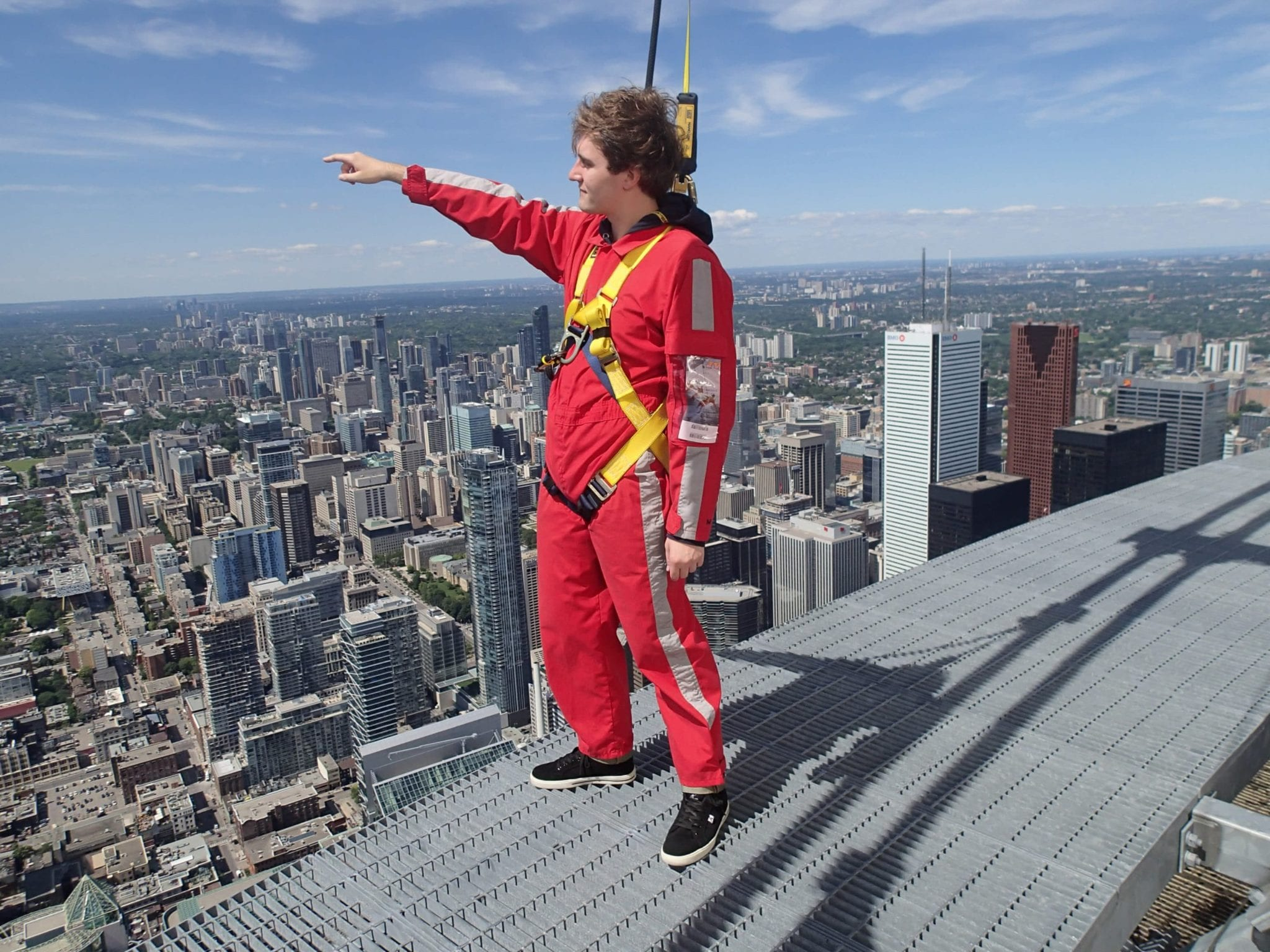 Nathan Brittain does the EdgeWalk