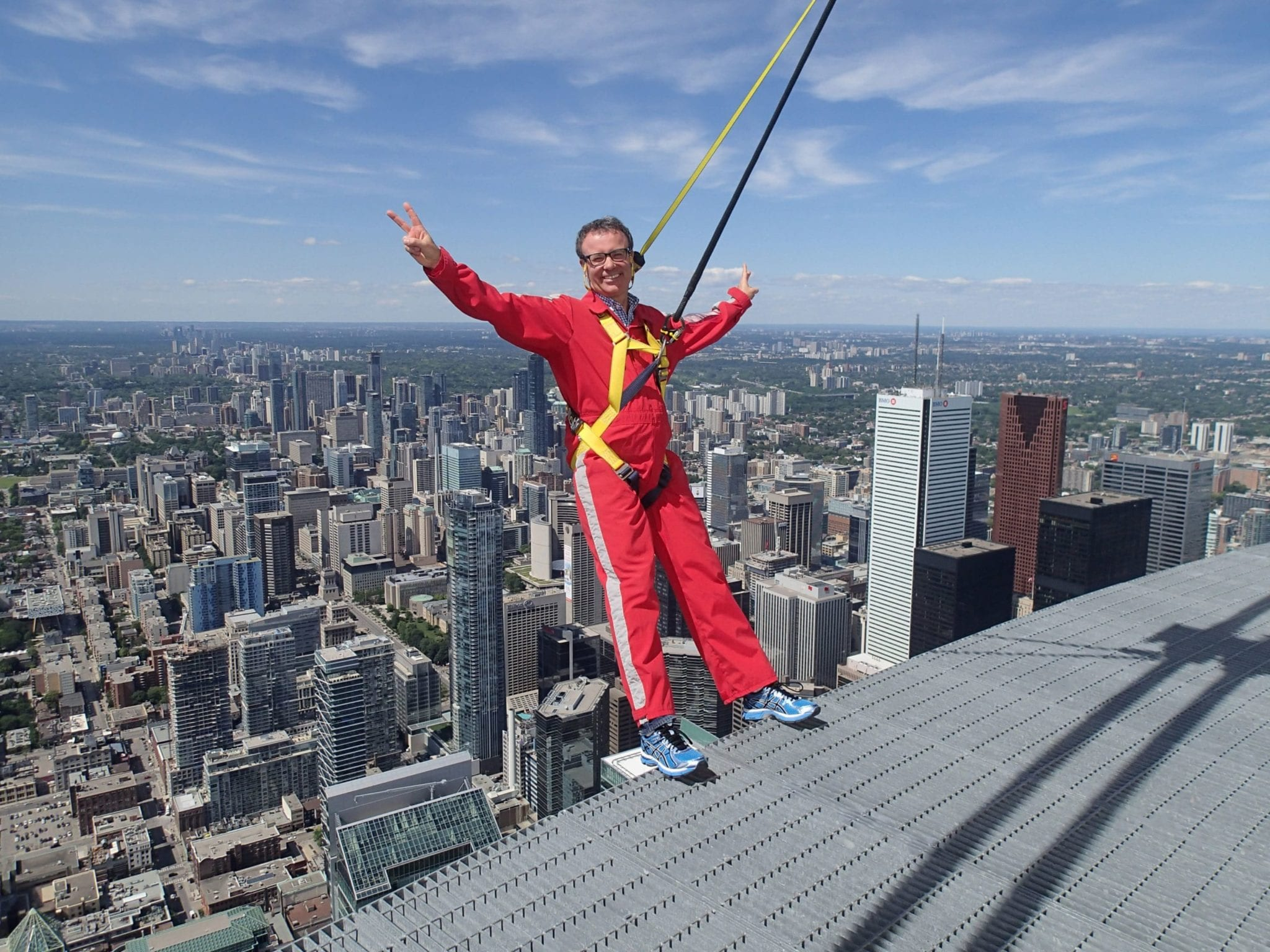 Tim Collins does the EdgeWalk